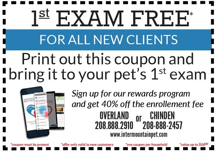 1st Pet Exam Coupon